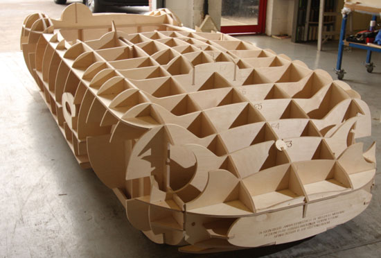 CNC Routing Plywood Car Buck