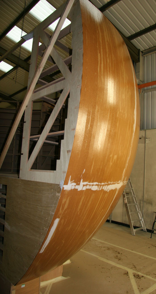 Smaller 8 foot radius dish with the cladding