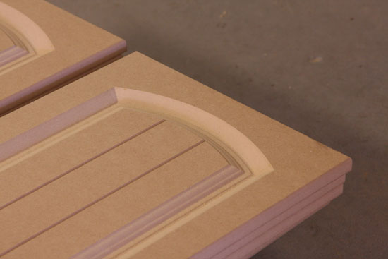 Detail of Farmhouse style doors & CNC Routing :: Doors and Panels