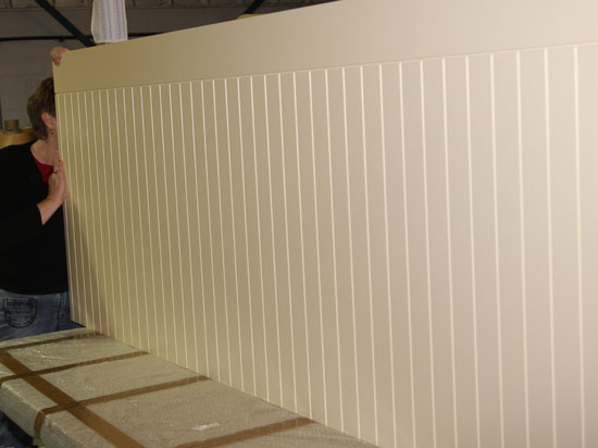 Wall Paneling Services : Cnc routing vinyl wrapped panels